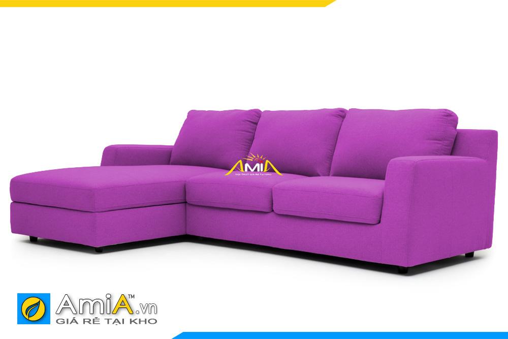 ghế sofa vải màu tím AmiA 20227