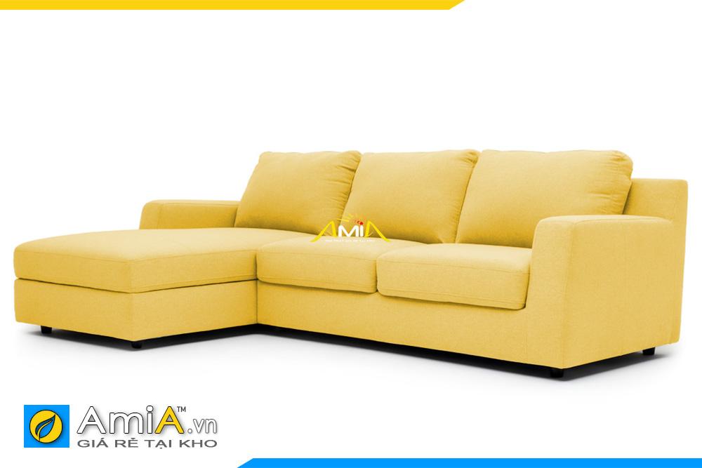 ghế sofa nỉ vải màu vàng