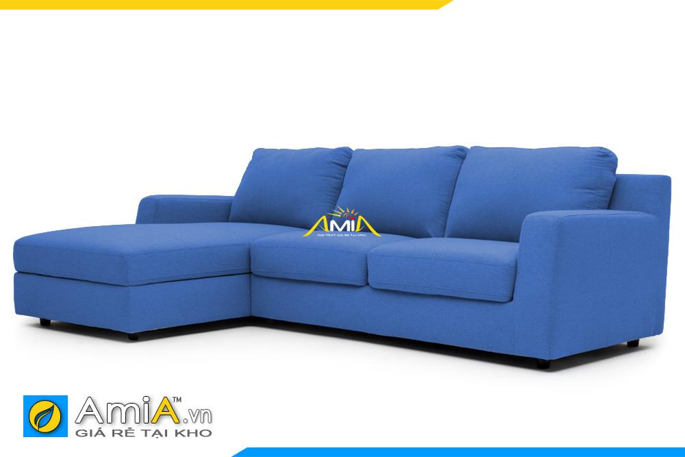 ghế sofa bọc vải nỉ màu xanh