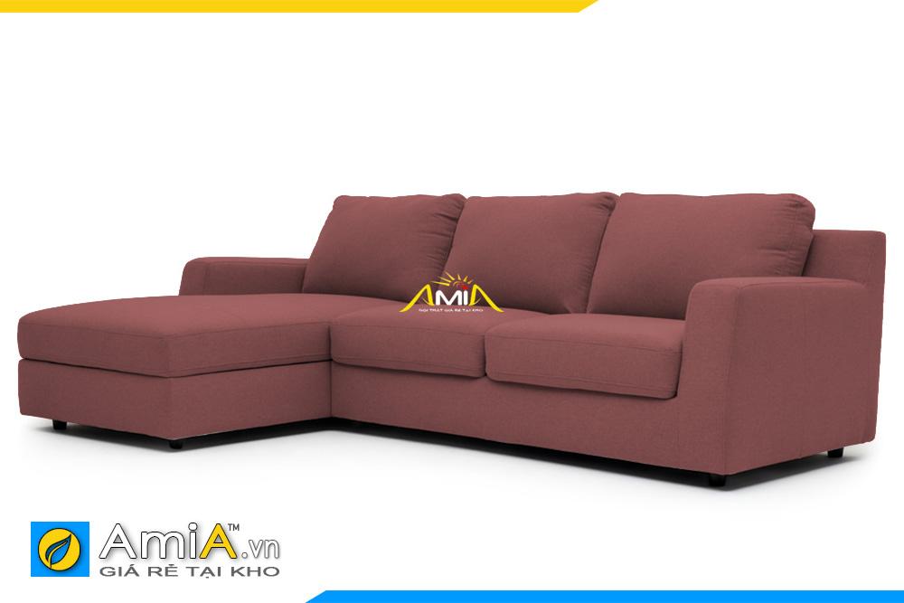 ghế sofa nỉ đẹp màu nâu AmiA 20227
