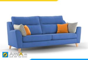 ghế sofa tựa lưng cao màu xanh