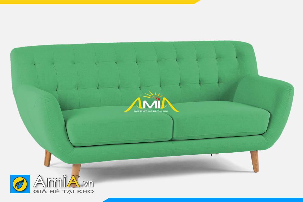 sofa nhỏ 2 chỗ ngồi màu xanh