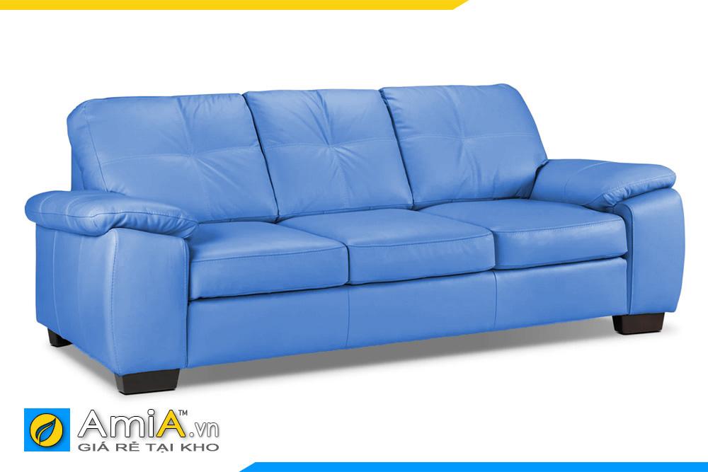 Sofa văng da 3 chỗ màu xanh