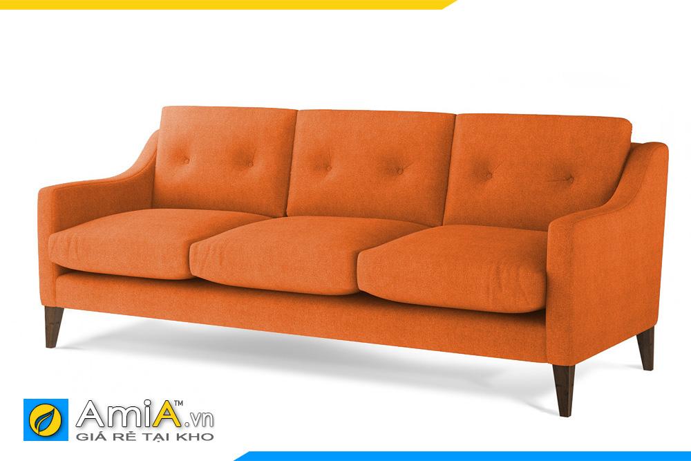 sofa văng nỉ đẹp màu cam