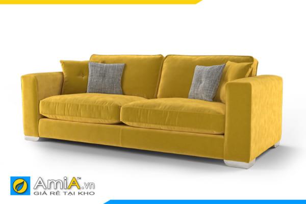 sofa nhỏ màu vàng 2 chỗ ngồi