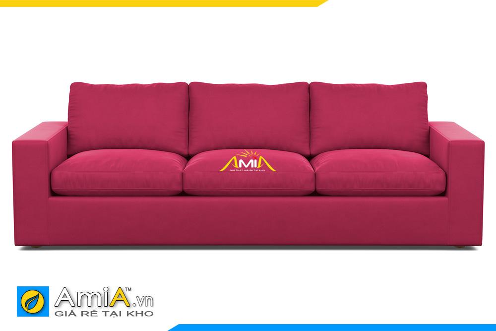 ghế sofa da màu đỏ đẹp