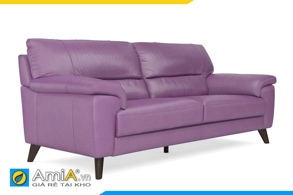 Mẫu ghế văng da màu tím nhạt