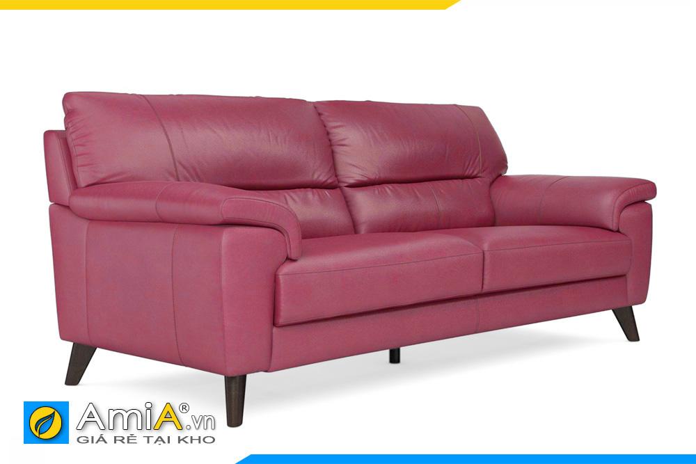 ghế sofa văng da màu đỏ