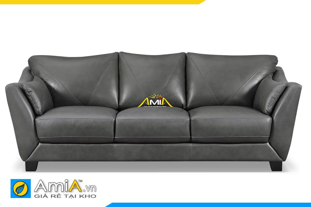 ghế sofa văng da màu ghi đen