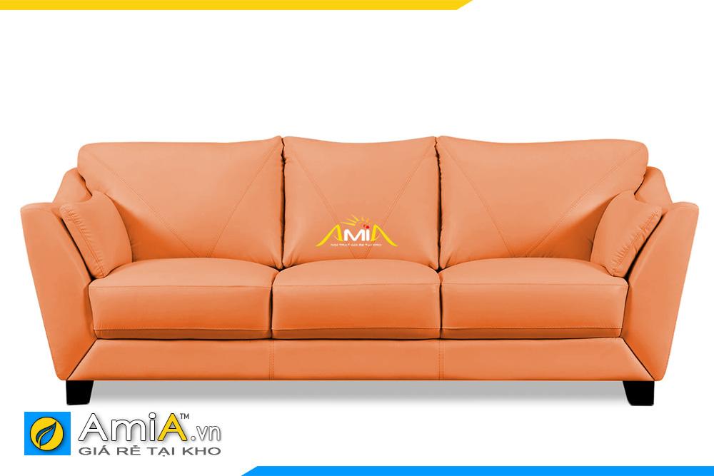 ghế sofa văng da màu cam AmiA 20109