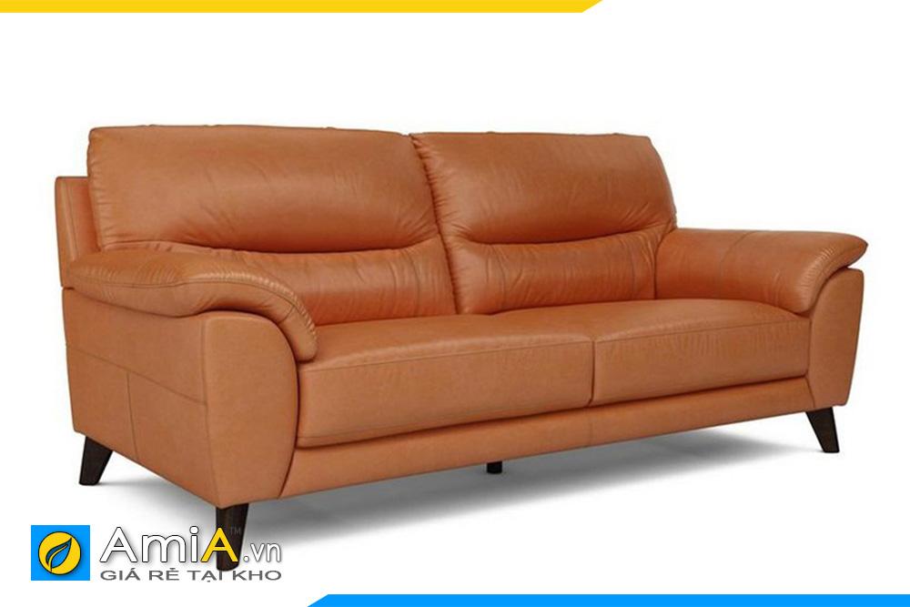 ghế sofa văng da đẹp màu cam