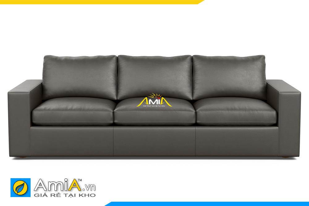 ghế sofa văng da màu đen AmiA 20125