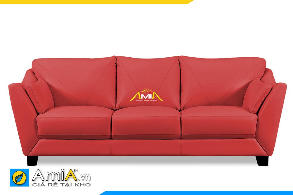 sofa văng da màu đỏ đẹp AmiA 20109