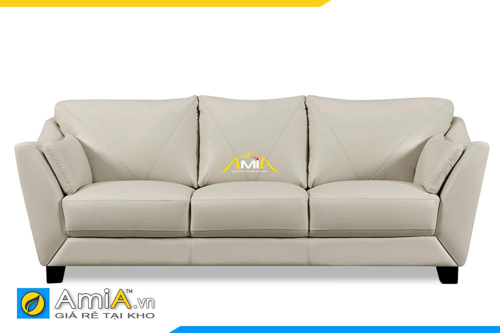 ghế sofa da màu kem AmiA 20109