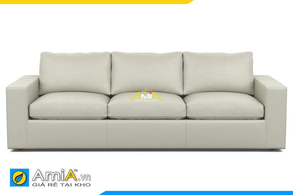 ghế sofa da màu trắng kem