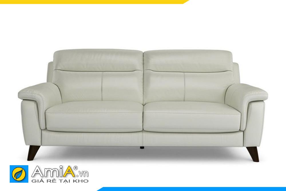ghế sofa văng da màu trắng