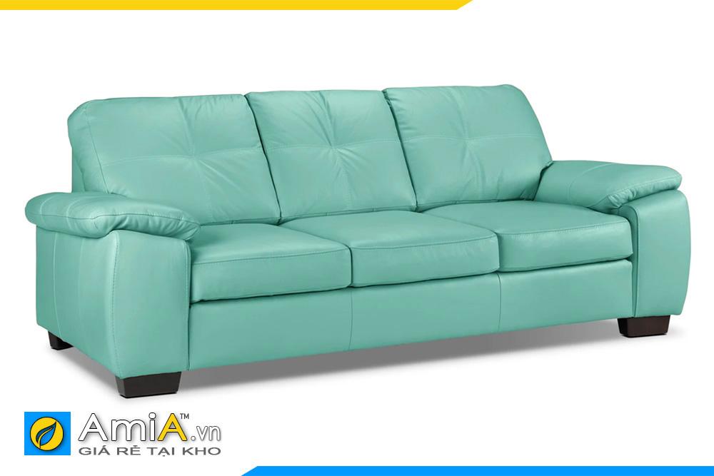 Sofa da đẹp màu xanh ngọc