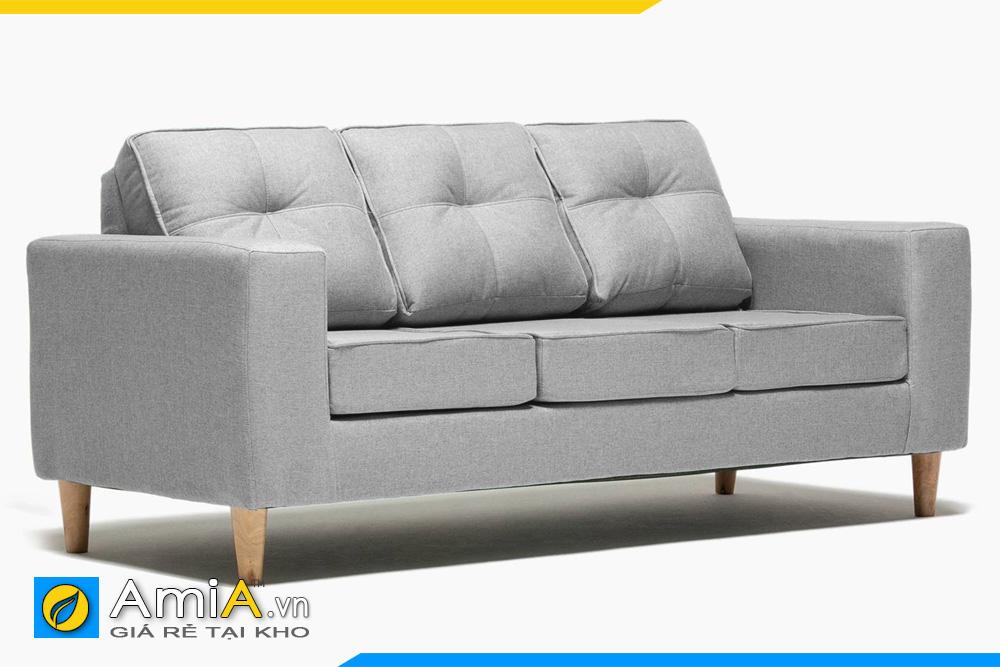 ghế sofa văng nỉ màu ghi AmiA 20161