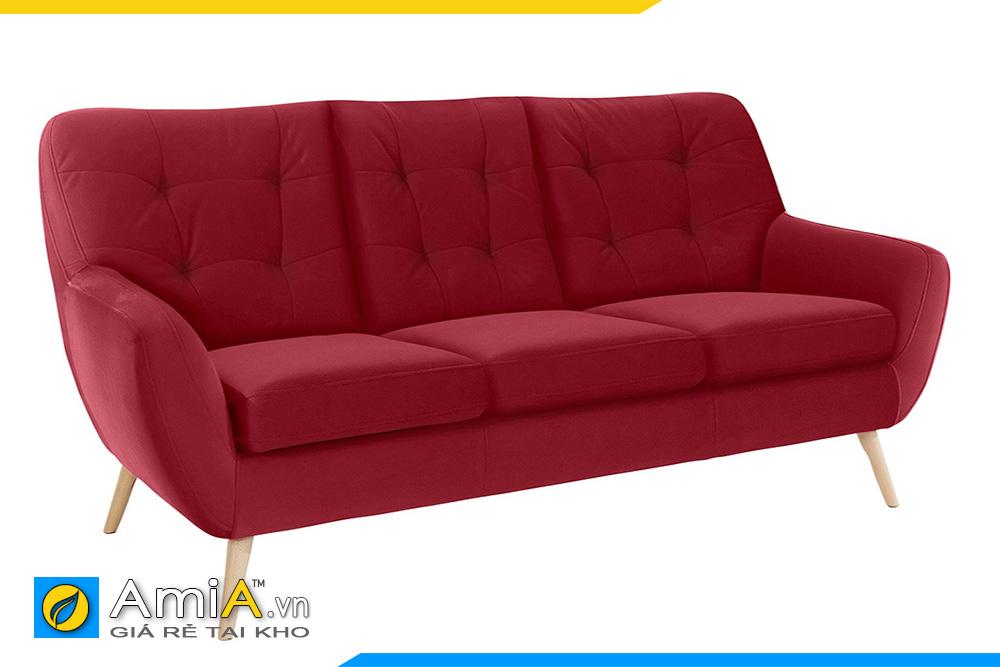 ghế sofa nỉ màu đỏ tựa lưng cao