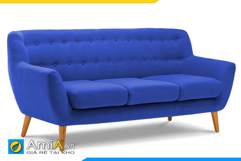 sofa văng nhỏ màu xanh dương