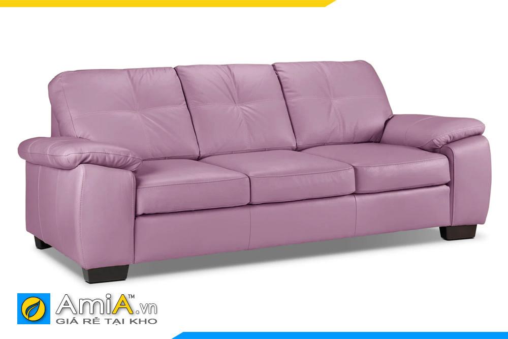 sofa da đẹp màu tím