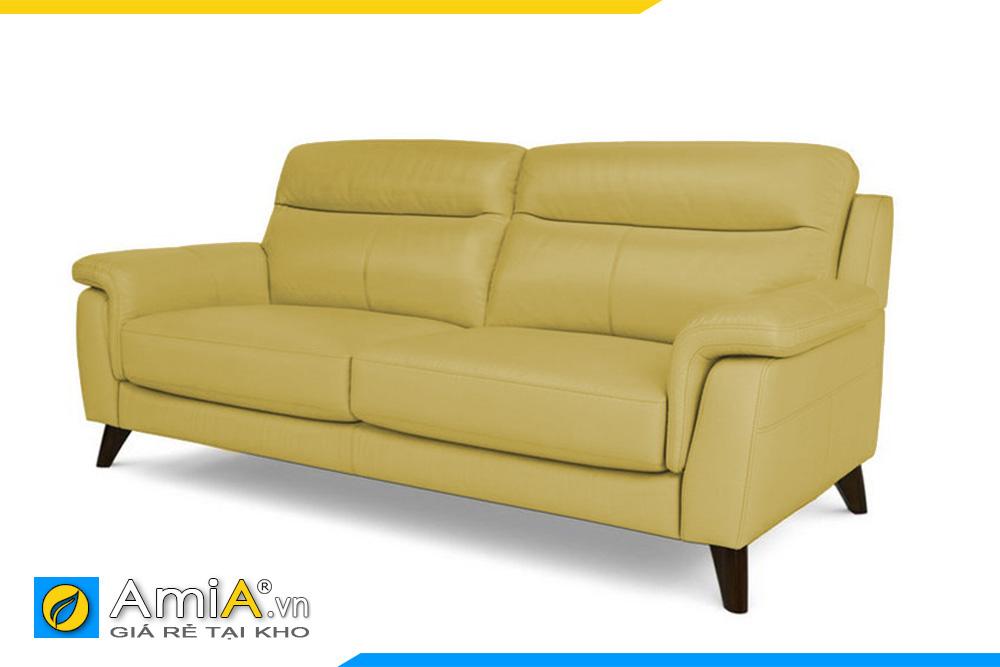 sofa văng da màu vàng AmiA 20013