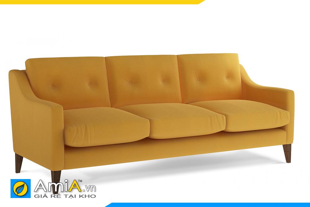 Sofa nỉ màu vàng giá rẻ