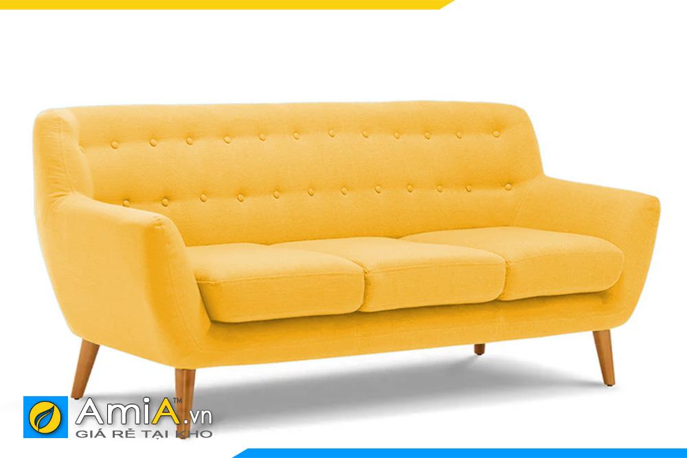 sofa màu vàng kiểu văng dài AmiA 20153