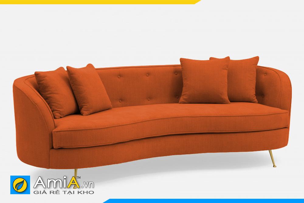 sofa màu cam kiểu tròn bán nguyệt