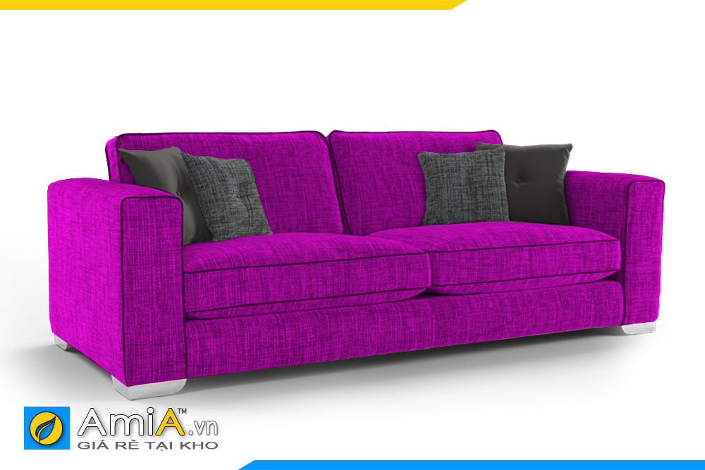 ghế sofa 2 chỗ màu tím trẻ trung