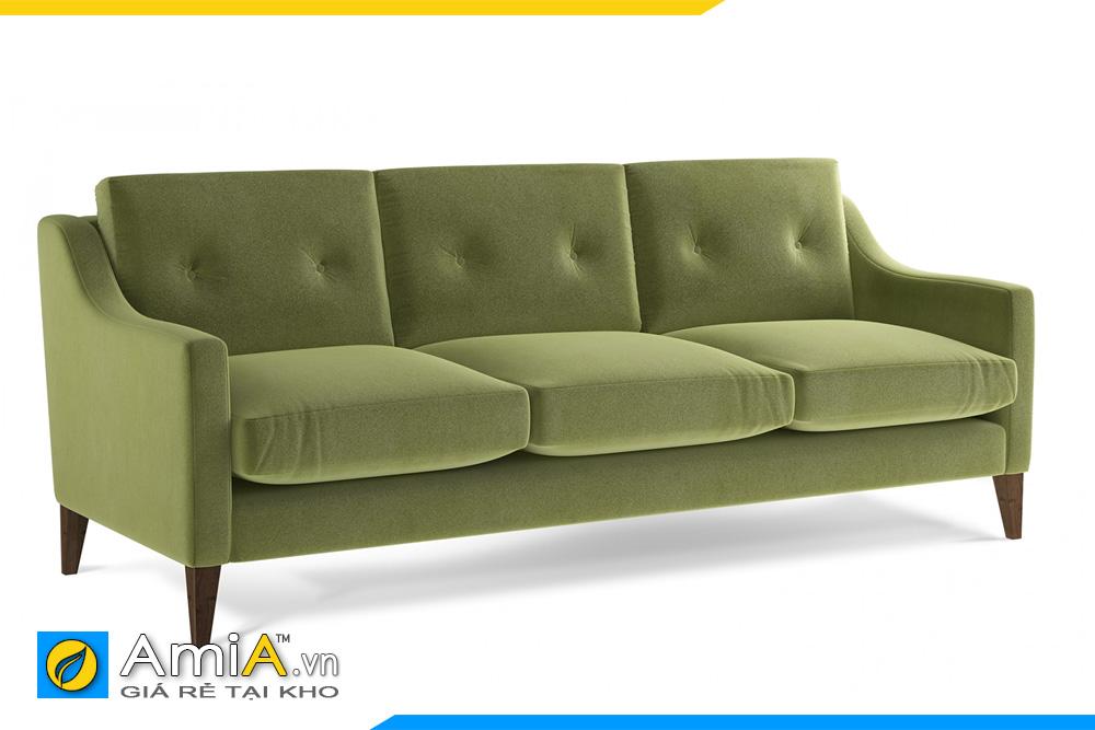 sofa văng nỉ màu xanh AmiA 20096