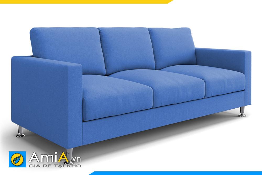 ghế sofa văng bọc nỉ xanh AmiA 20192
