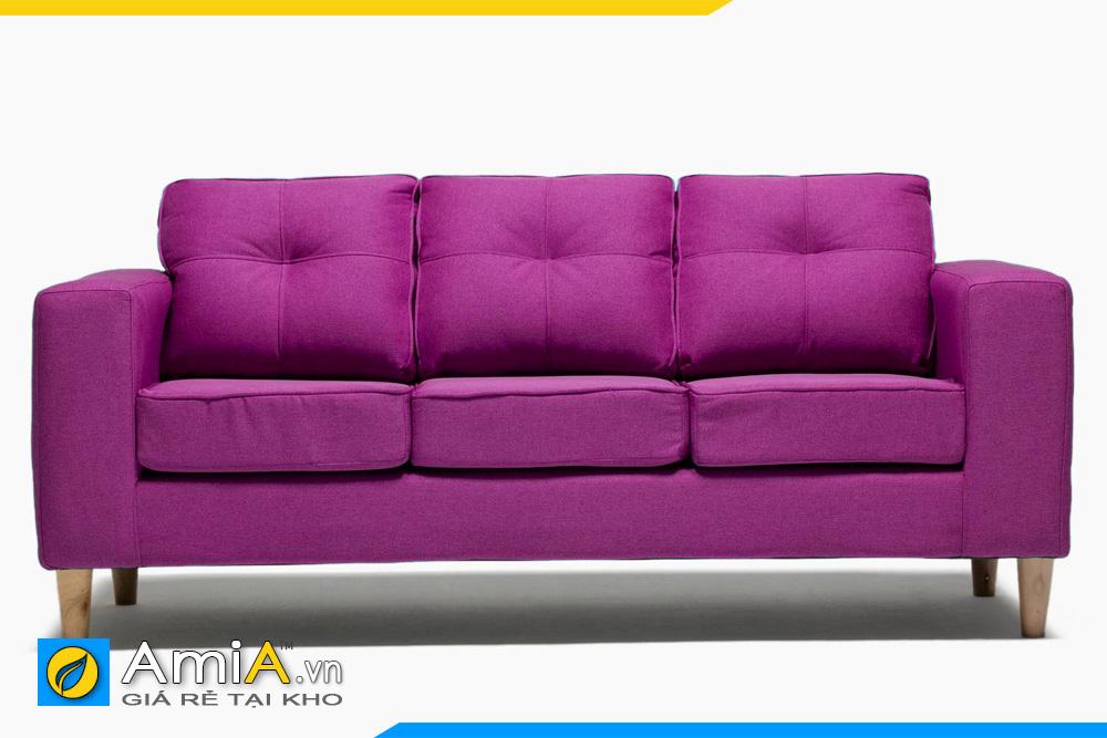 sofa văng nỉ màu tím AmiA 20161