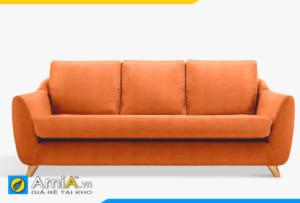 sofa bọc nỉ màu cam đẹp