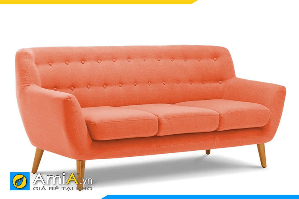 sofa màu cam chất liệu nỉ