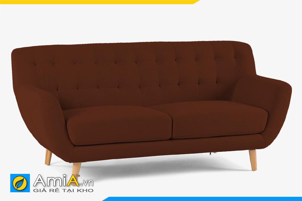 sofa nhỏ mini bọc nỉ màu nâu