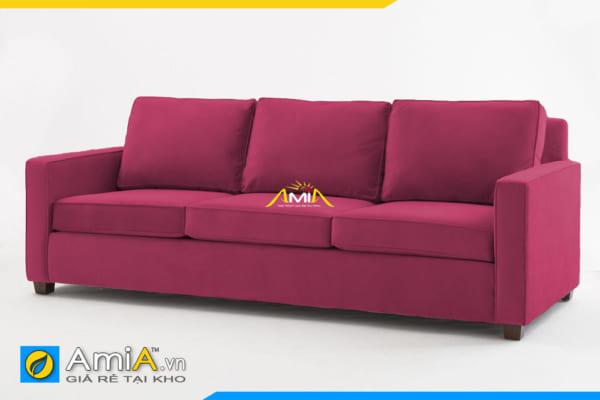 sofa văng nỉ đẹp màu đỏ