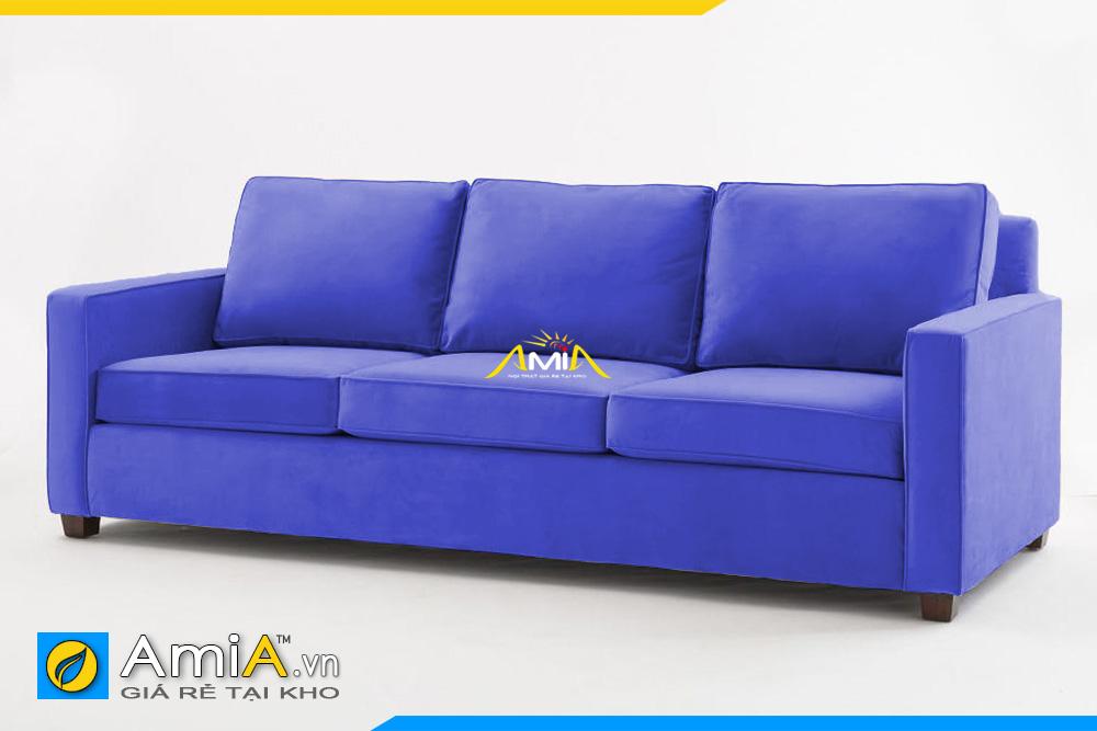 ghế sofa nỉ giá rẻ màu xanh dương