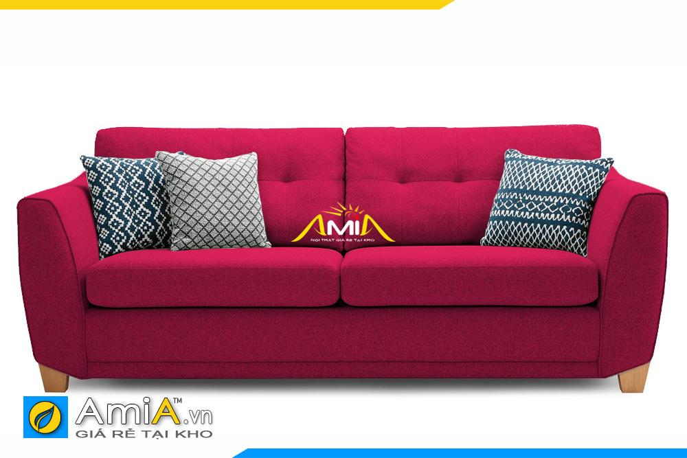 Ghế sofa văng nỉ nhỏ màu đỏ AmiA 20002