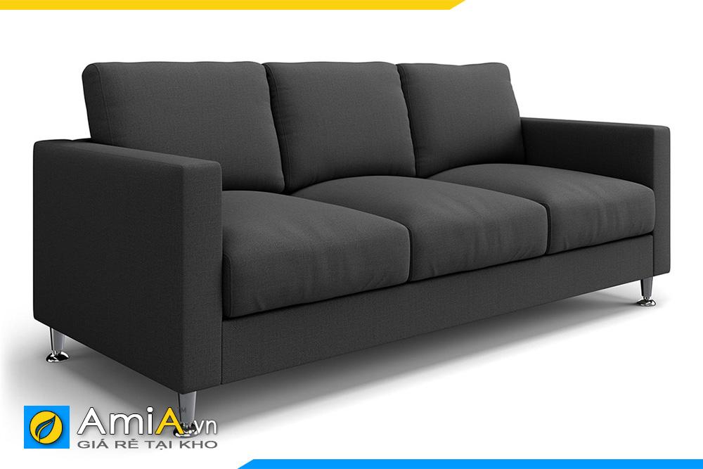 sofa phòng khách bọc nỉ ghi