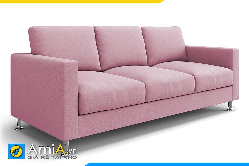 ghế sofa văng 3 chỗ màu hồng