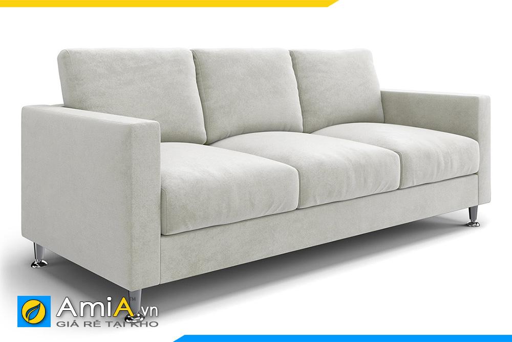 sofa văng nỉ màu trắng kem