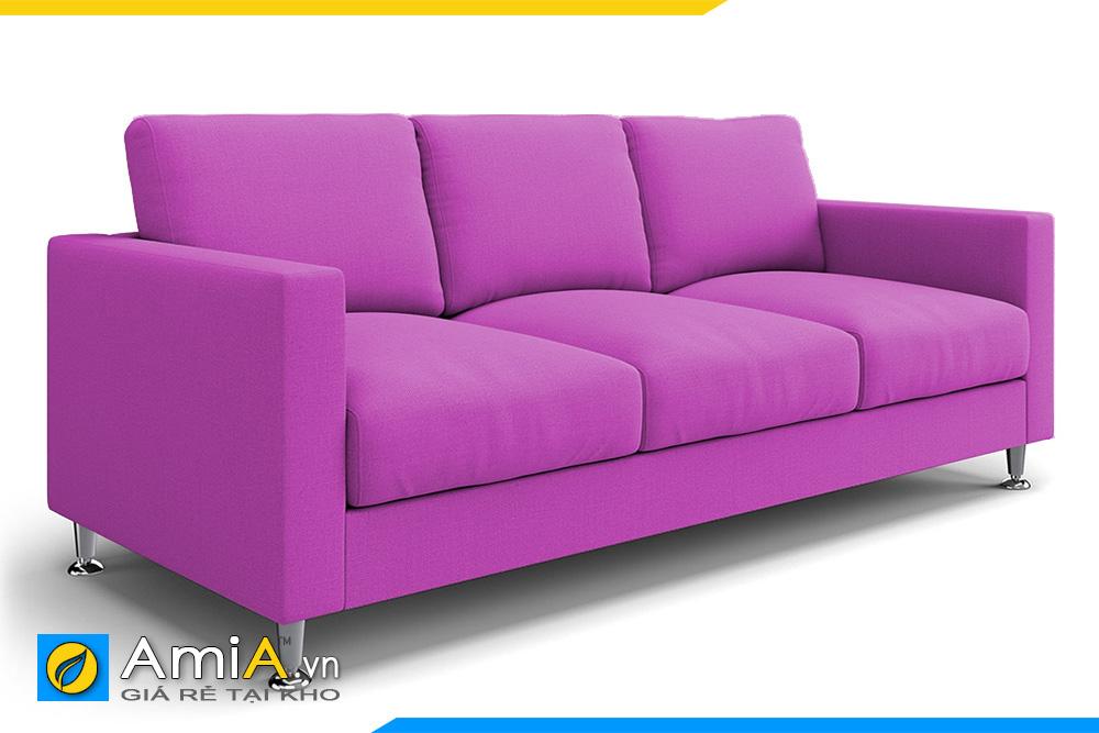 ghế sofa đẹp màu tím 3 chỗ