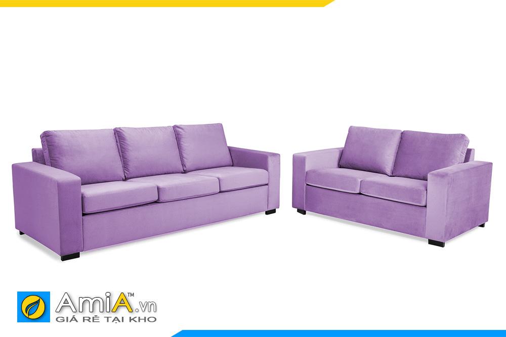 bộ ghế sofa văng màu tím