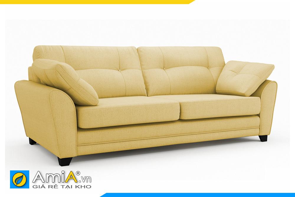 ghế sofa văng nỉ màu vàng AmiA 20003