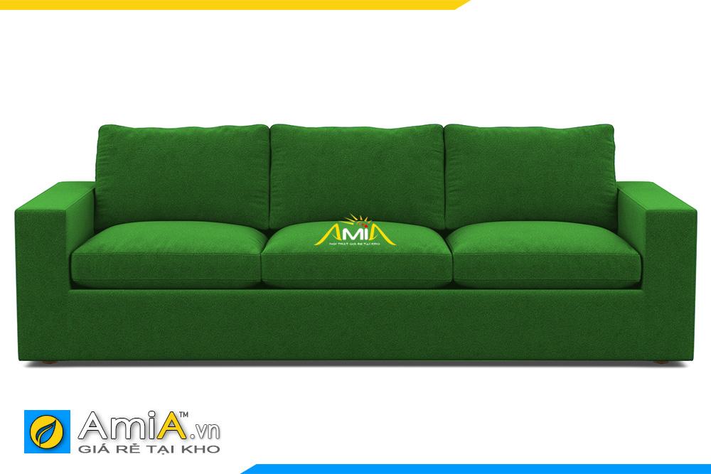 sofa văng nỉ màu xanh lá cây