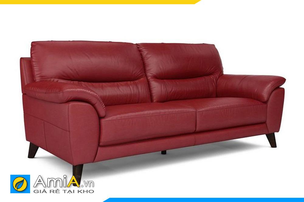 sofa đẹp màu đỏ kê phòng khách nhỏ