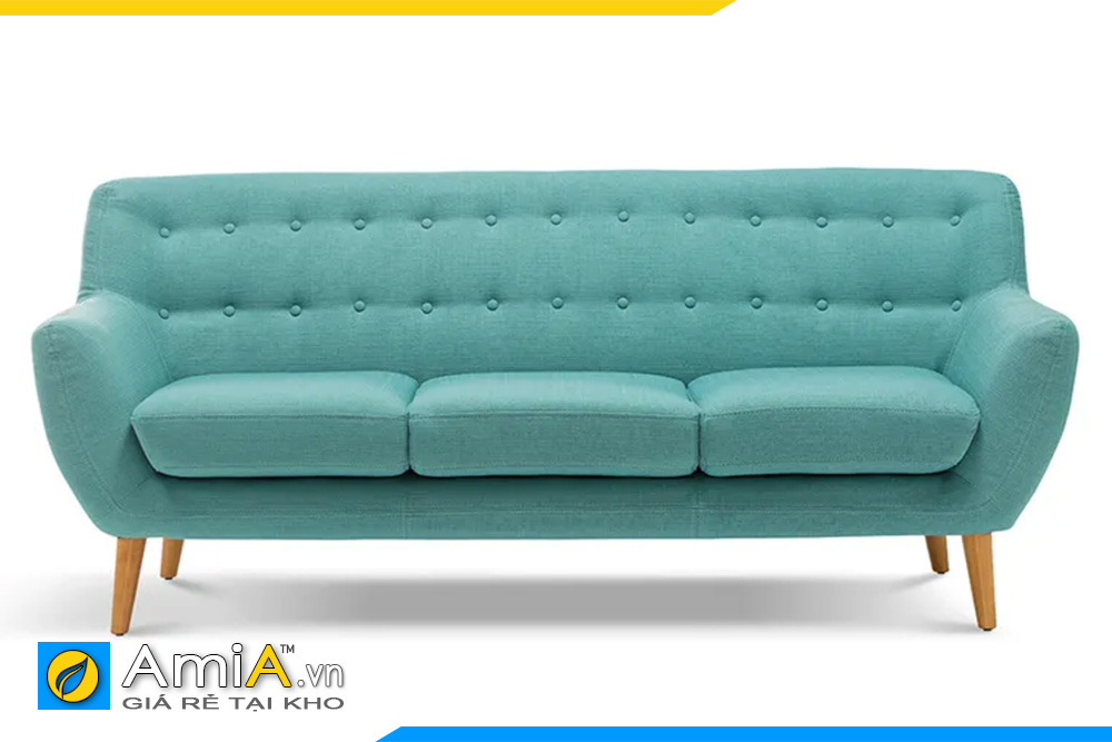 ghế sofa văng nỉ màu xanh