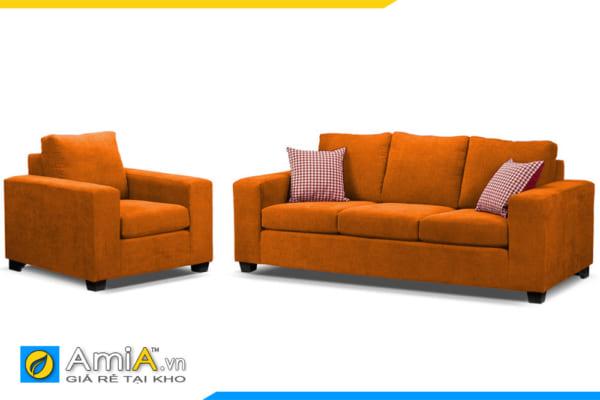 bộ ghế sofa phòng khách màu cam