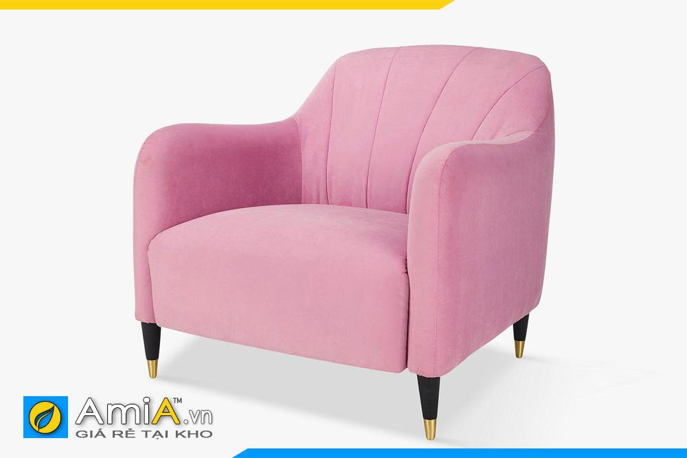 Mẫu ghế đơn 1 chỗ màu hồng